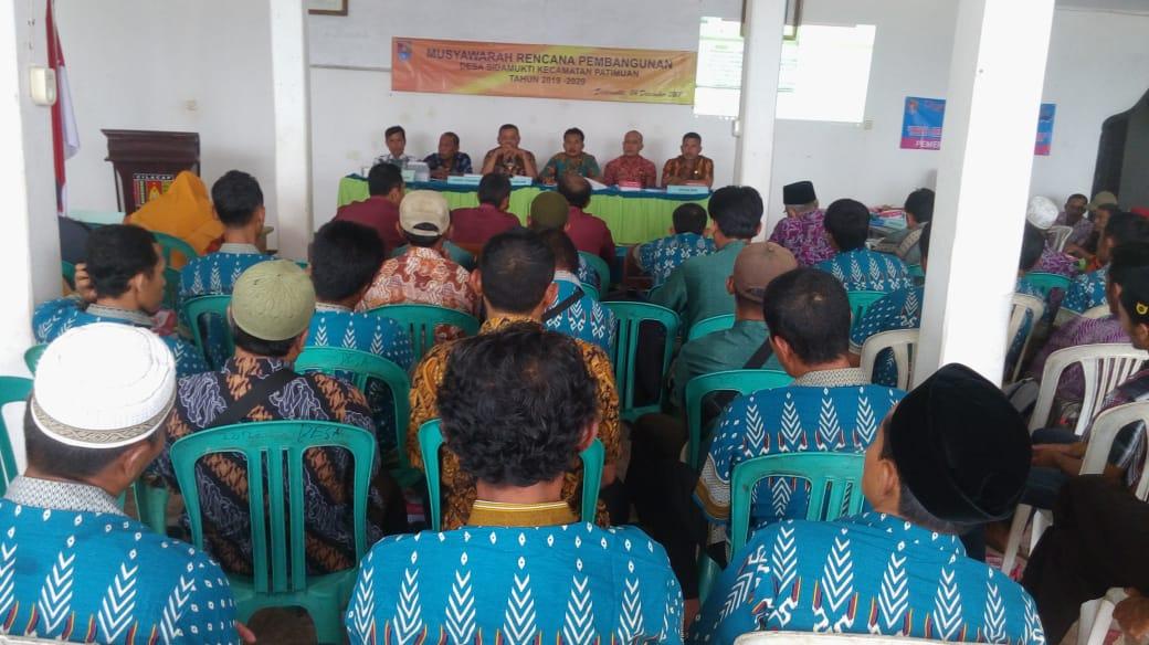 Musyawarah Perencanaan Pembangunan Desa (Musrenbangdes) Sidamukti Tahun 2018